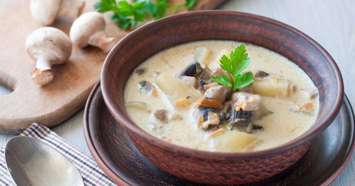 Фото Ароматный сливочно-грибной суп