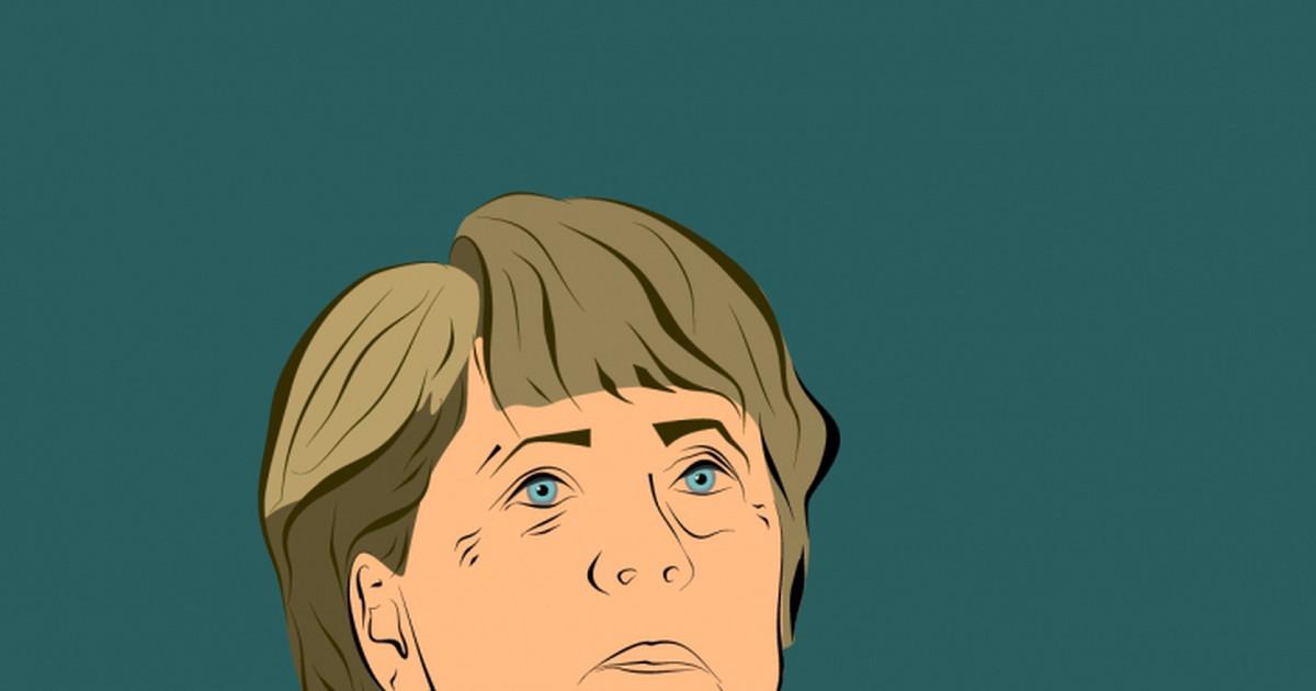 Фото Недалёкое будущее. Умирает канцлер Германии Ангела Меркель и попадает прямиком в ад. Попадает она туда с чемоданами, где лежат вещи, и, оценив обстановку, принимается горько плакать. Услышав её