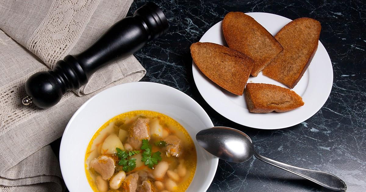 Фото Фасолевый суп со свининой