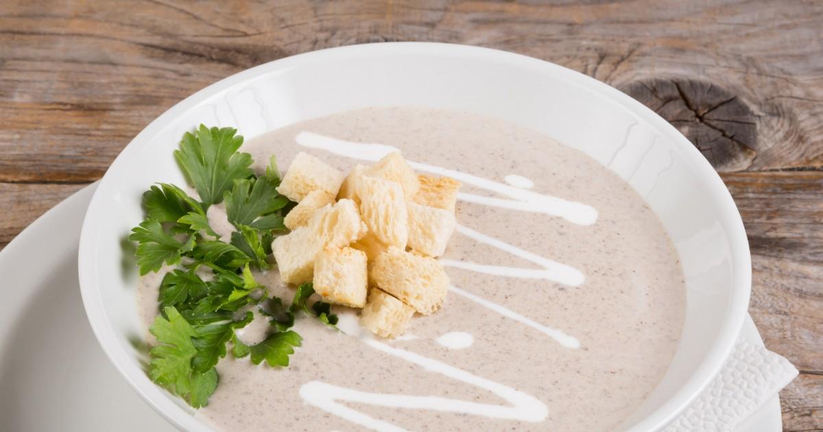 Фото Нежнейший грибной суп-пюре со сливками