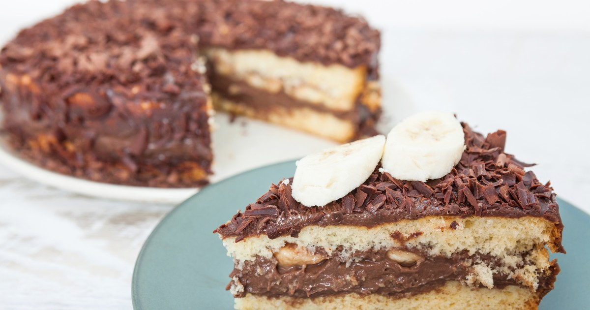 Фото Шоколадный торт с бананами