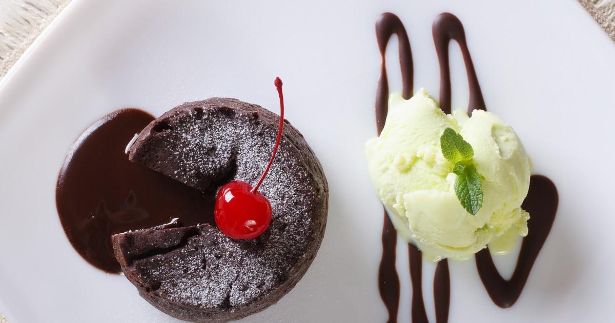 Фото Аппетитный шоколадный фондан