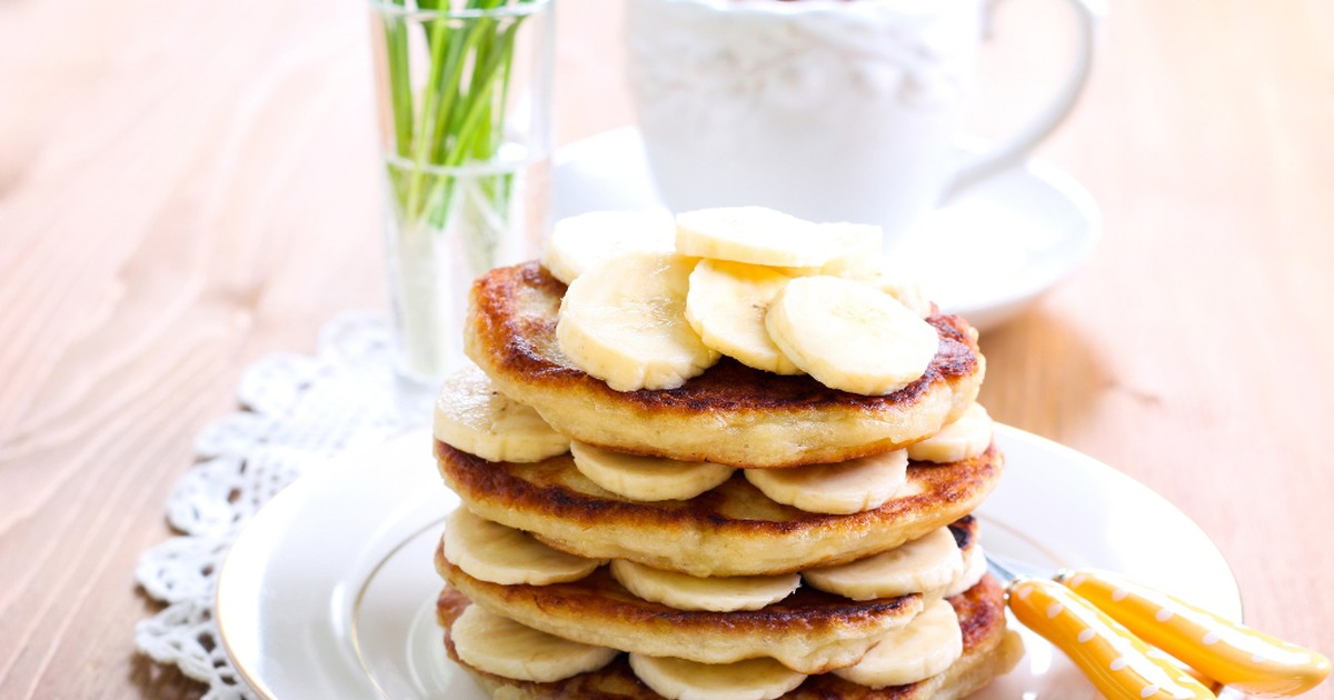 Фото Банановые оладьи на меду