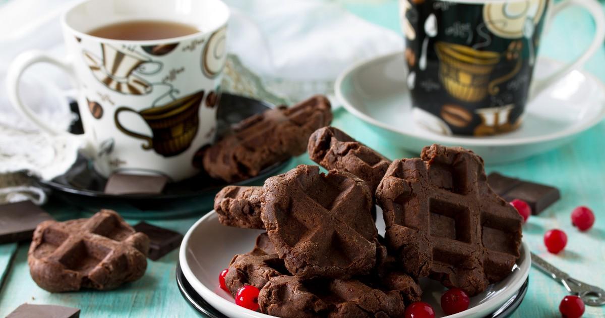 Фото Вкуснейшие шоколадные вафли