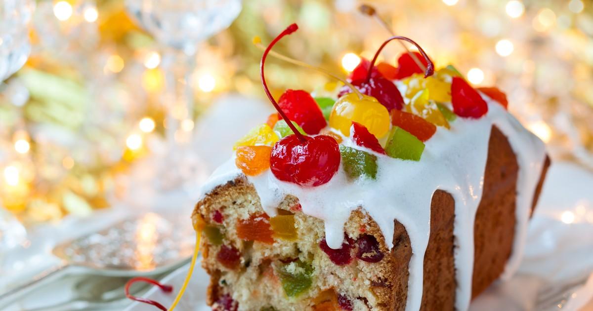 Фото Рождественский кекс с цукатами
