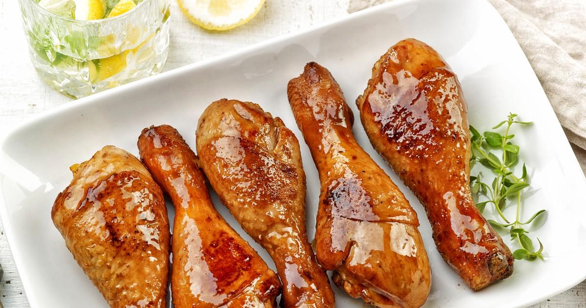 Фото Куриные ножки в глянцевом соусе