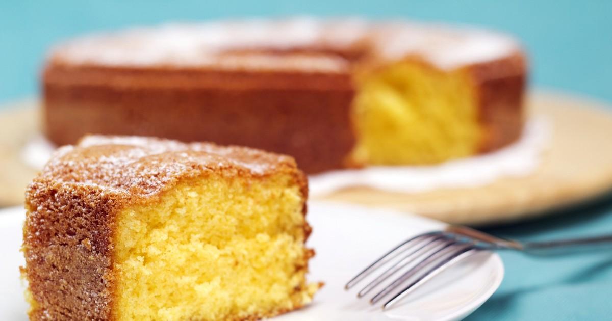 Фото Ароматный кекс с лимоном и имбирём