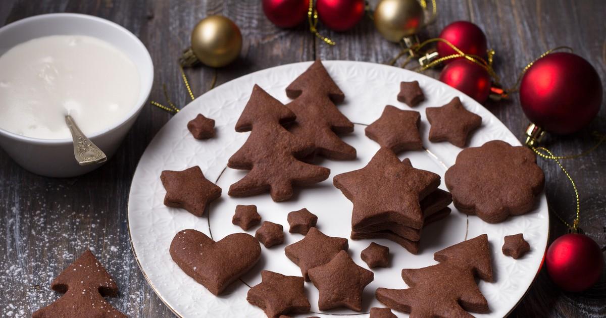 Фото Домашнее шоколадно-имбирное печенье