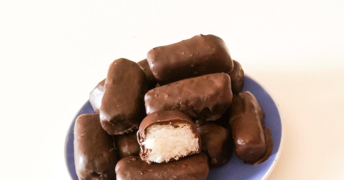 """Фото Домашние шоколадные батончики """"Баунти"""""""