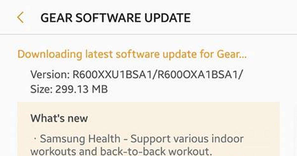 Фото Samsung выпустила обновление для Gear S3 и Gear Sport