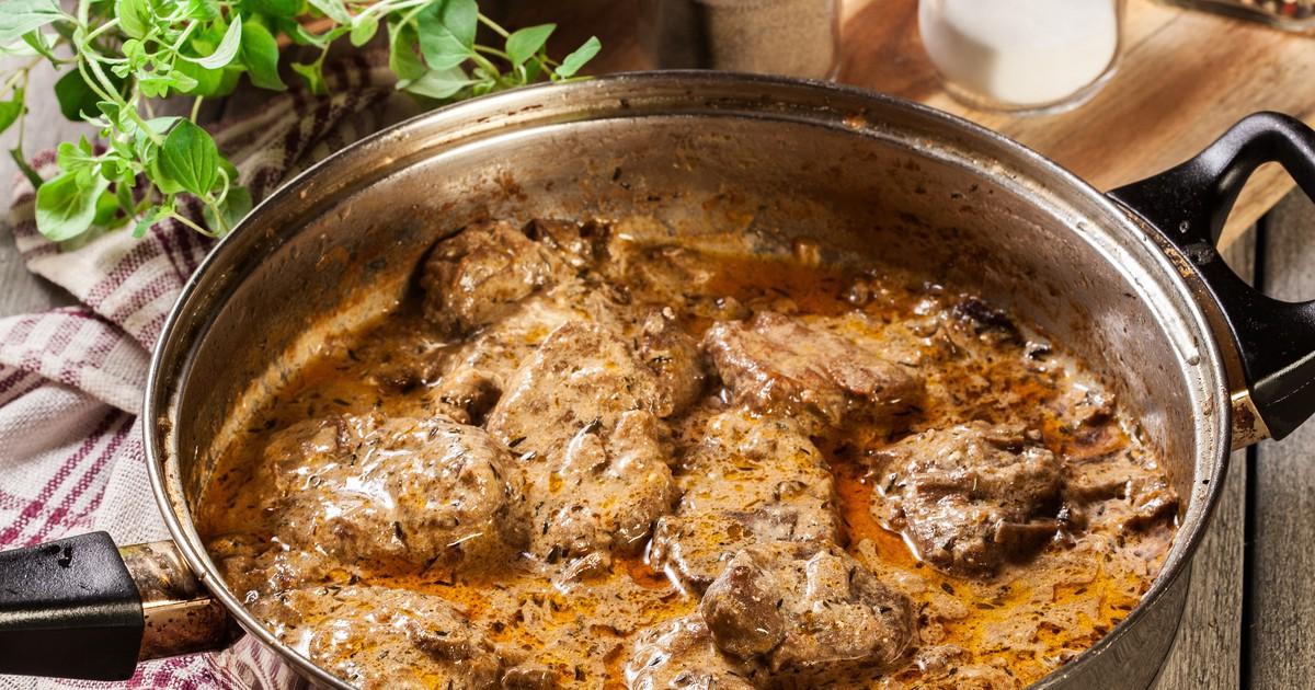 Фото Свиная вырезка в сливочно-грибном соусе