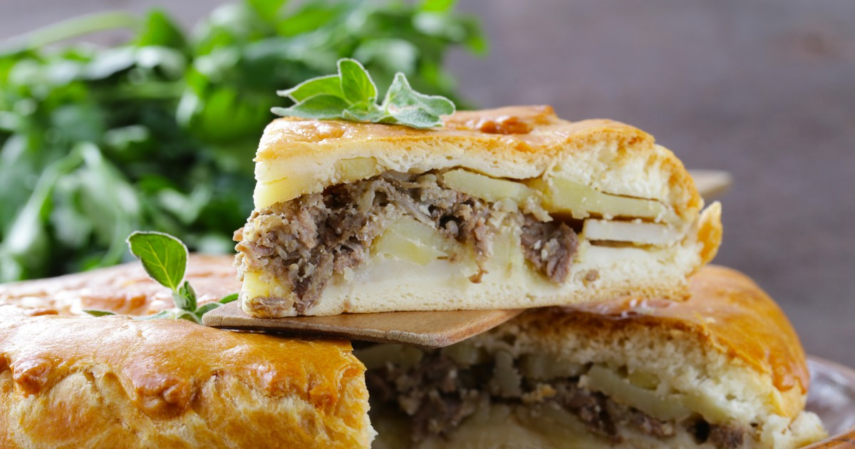 Фото Домашний пирог с картофелем и мясом