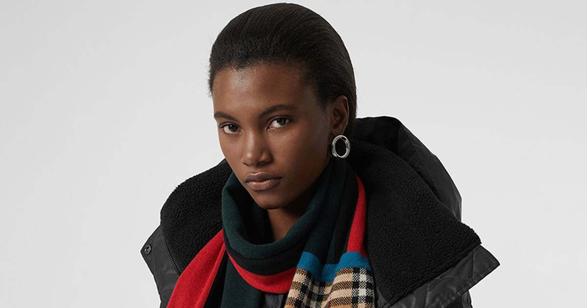 Photo of Burberry Drops Dope New Multi-Patterned Scarf