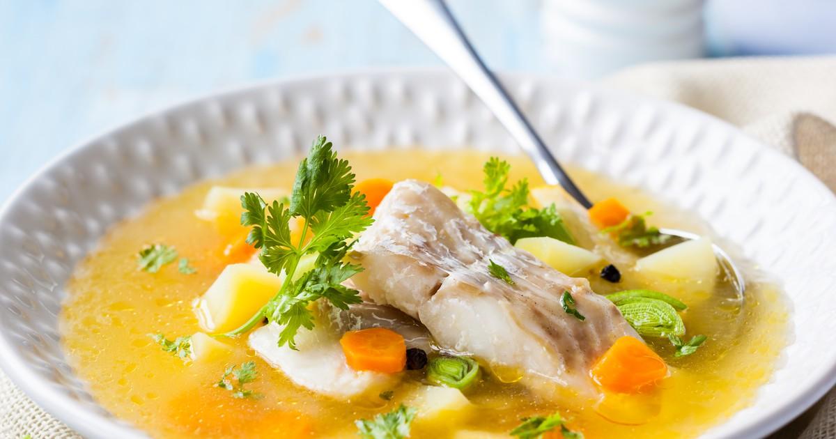 Фото Рыбный суп с сельдереем