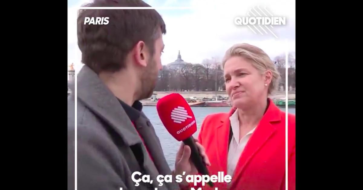 """Фото """"Quotidien"""": Emmanuelle Gave écartée de la liste de Nicolas Dupont-Aignan après cette séquence"""