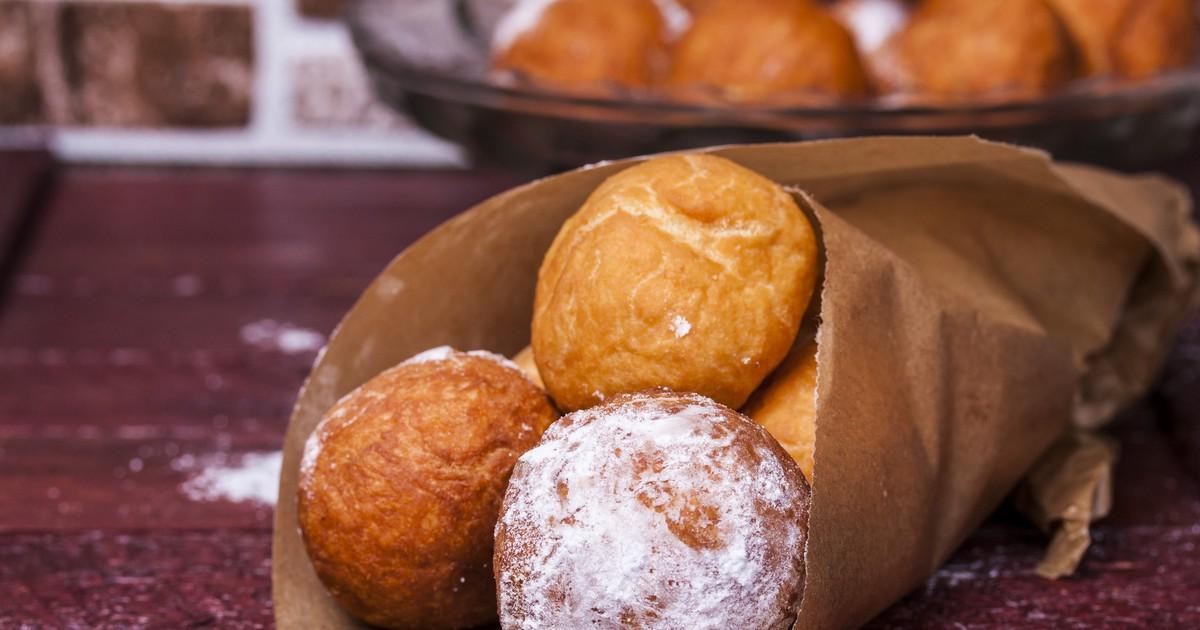 Фото Пончики из творога в сахарной пудре