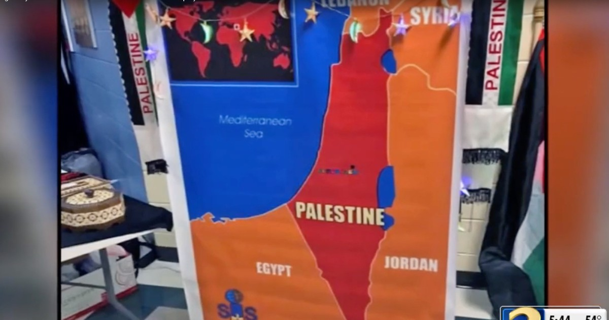 Photo of Middle school under fire after multicultural night debuts a map that claims all of Israel is Palestine