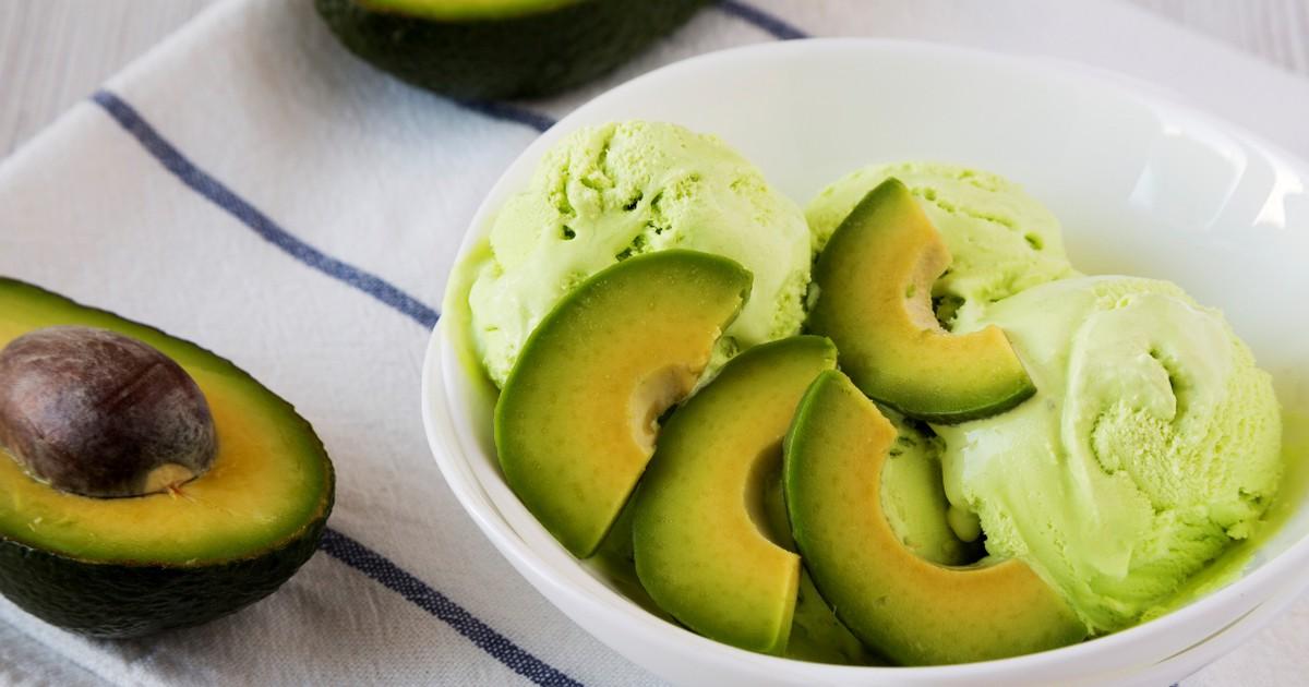Фото Домашнее мороженое из авокадо по рецепту Джейми Оливера