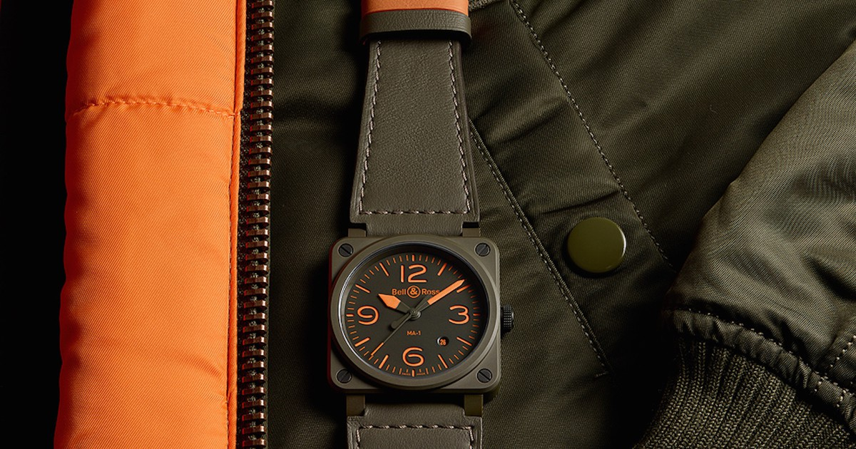 Photo of Bell & Ross Debuts an MA-1 Flight Jacket-Inspired $4,000 Timepiece