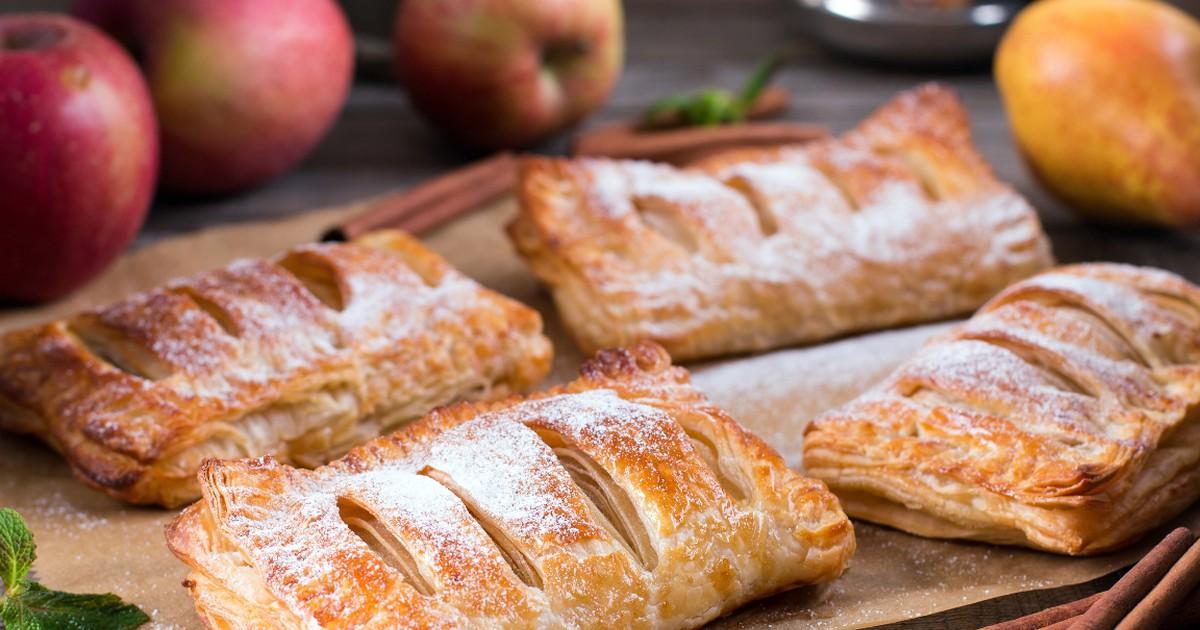 Фото Ароматные слойки с яблоками