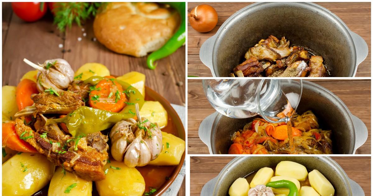 Фото Дымляма с бараниной и картофелем: пошаговый фото рецепт