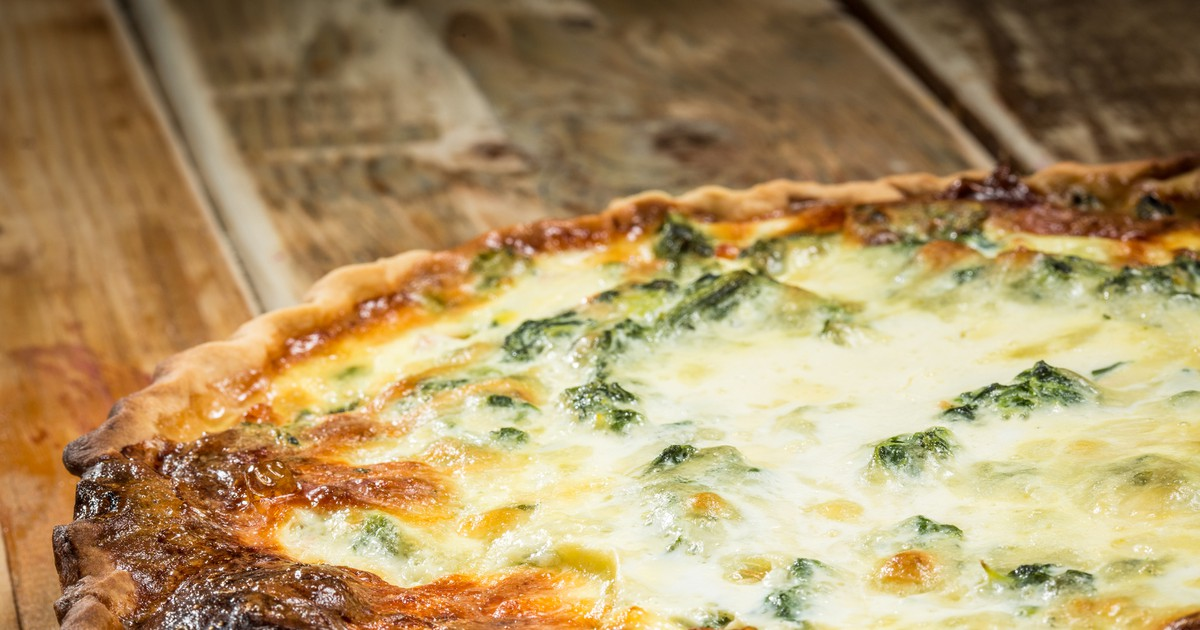 Фото Пирог с курицей, грибами, брокколи и сыром