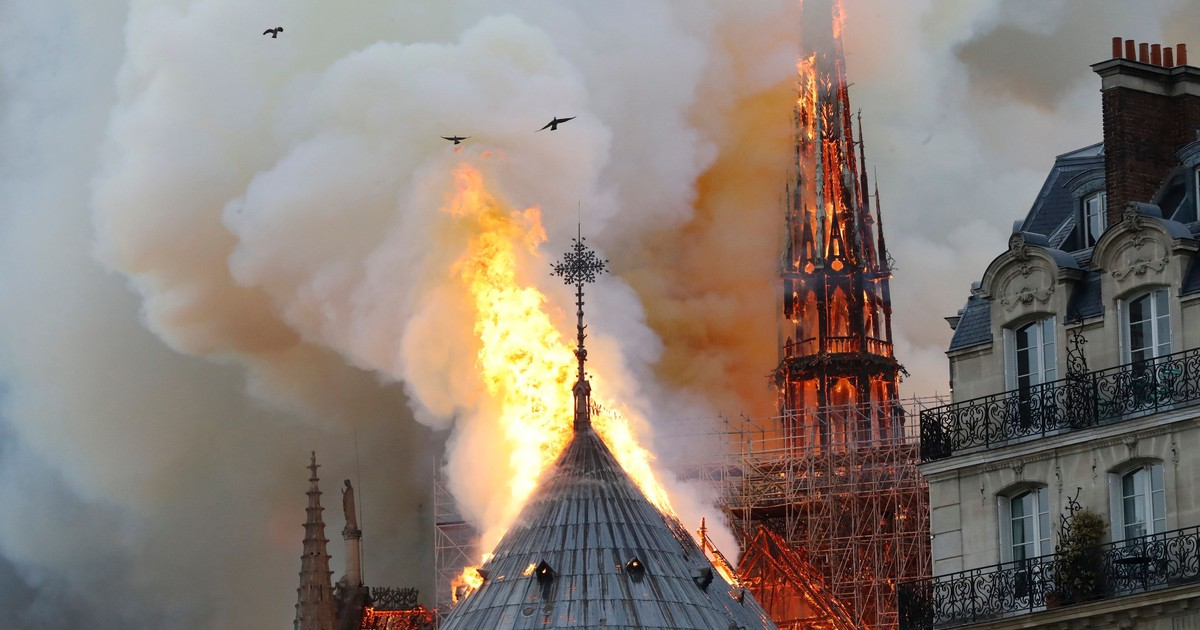 Photo of Why does it look like birds were circling the flames of Notre Dame?