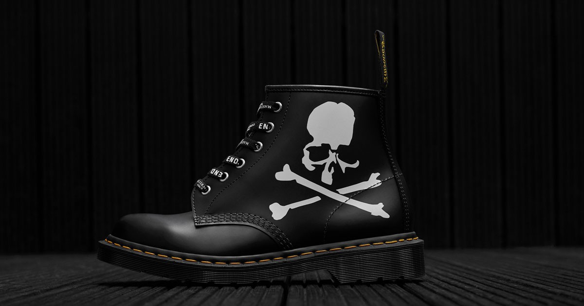Photo of END. Clothing & MASTERMIND Add Skeletal Detailing to the Dr. Martens 101
