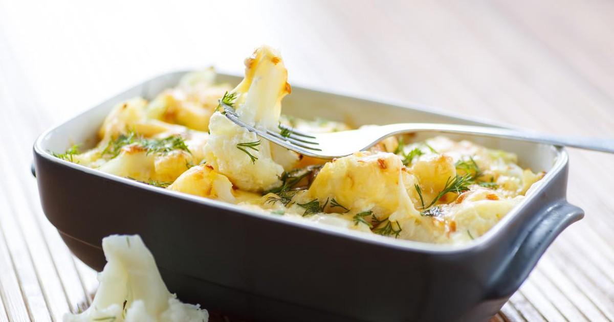 Фото Аппетитная запеченная цветная капуста с сыром