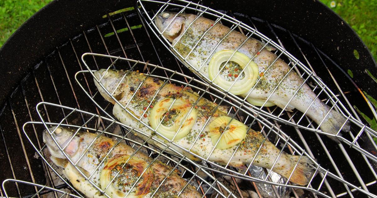 Фото Форель на гриле: рецепт для пикника