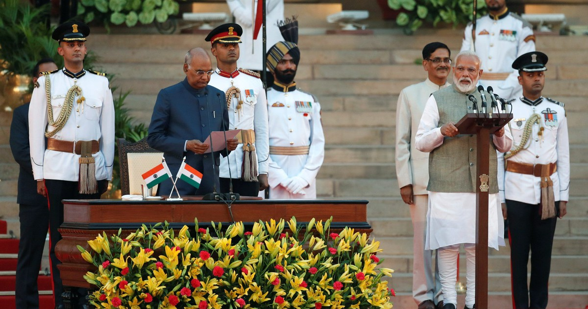 Photo of Narendra Modi begins his second term as India's prime minister