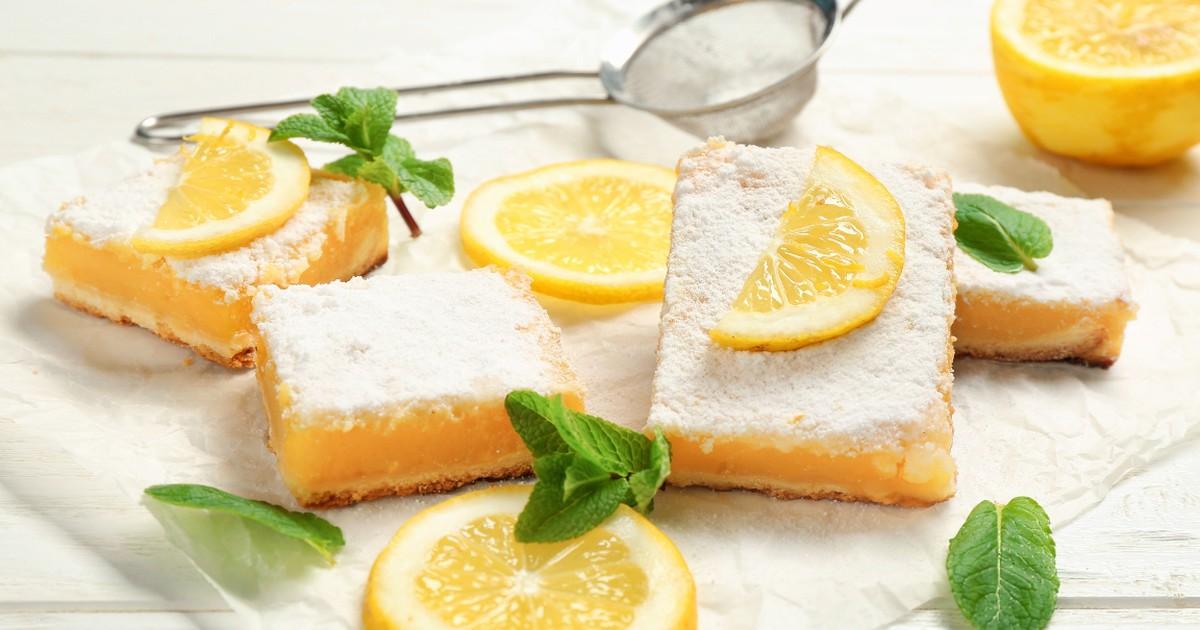 Фото Вкуснейшие лимонные квадратики к чаю
