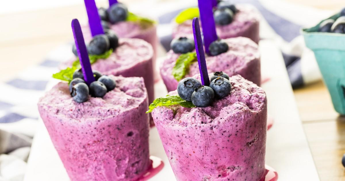 Фото Фруктовый лед с черникой и йогуртом