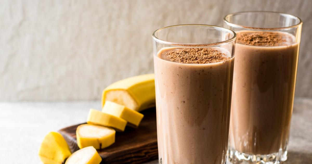 Фото Вкуснейший шоколадно-банановый смузи