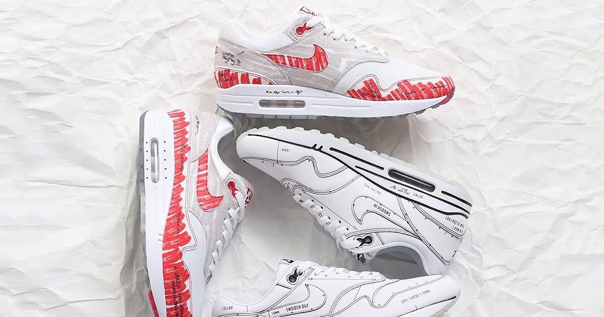 Photo of This Nike Air Max 1 Pack Brings OG Tinker Hatfield Design Sketches to Life
