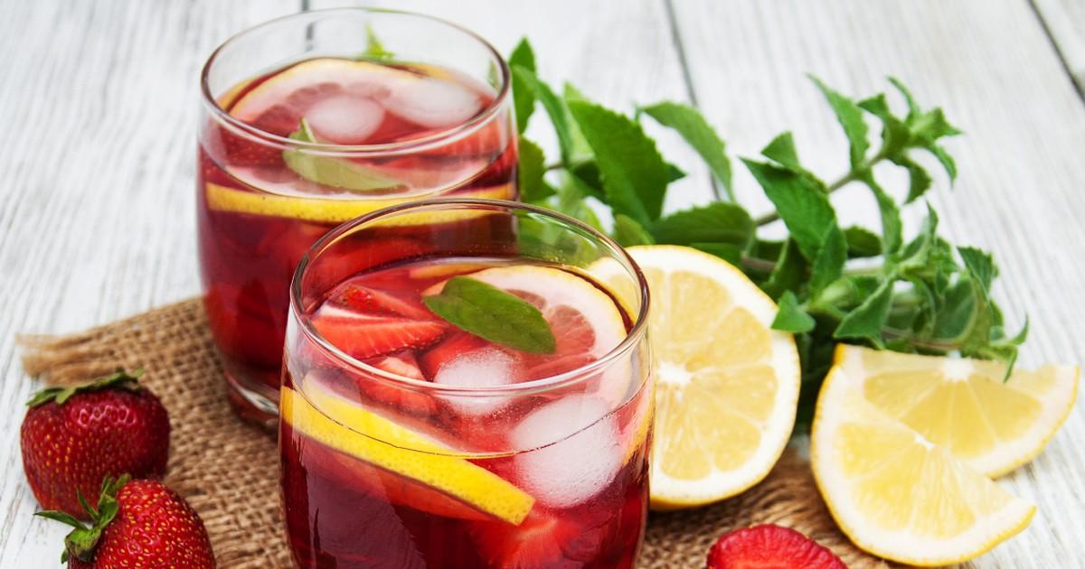 Фото Освежающий клубничный лимонад