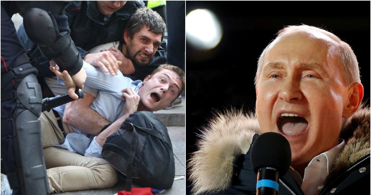 Фото Кремль впервые прокомментировал жесткие задержания на митинге в Москве