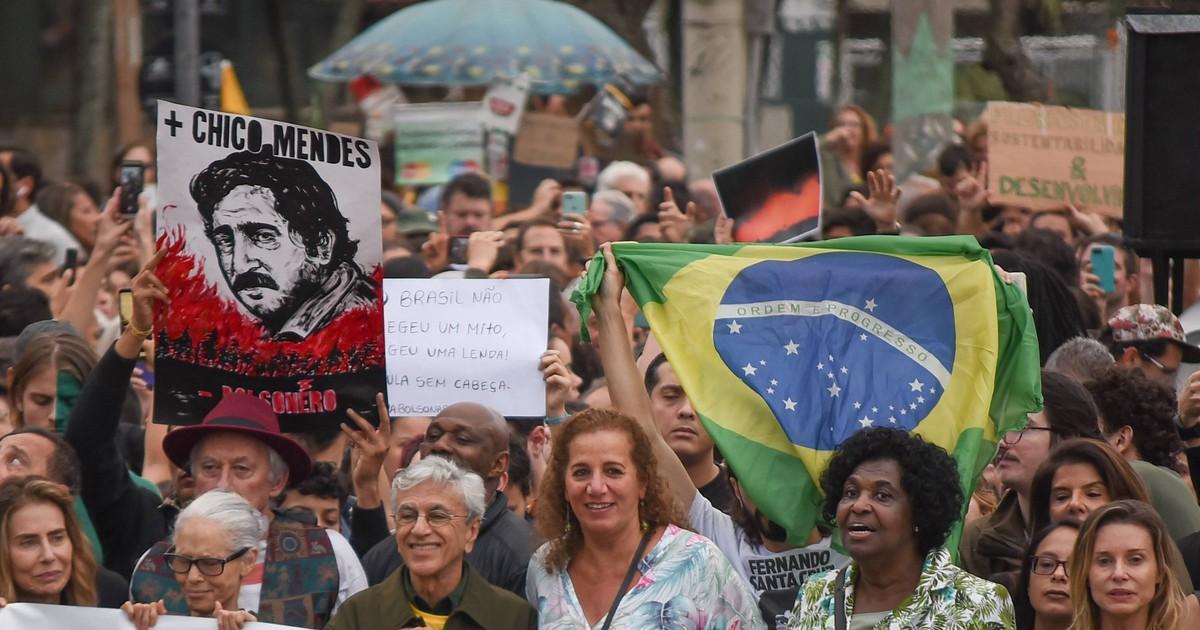 Photo of Protesto pela Amazônia reúne Caetano, Sônia Braga e Maitê Proença