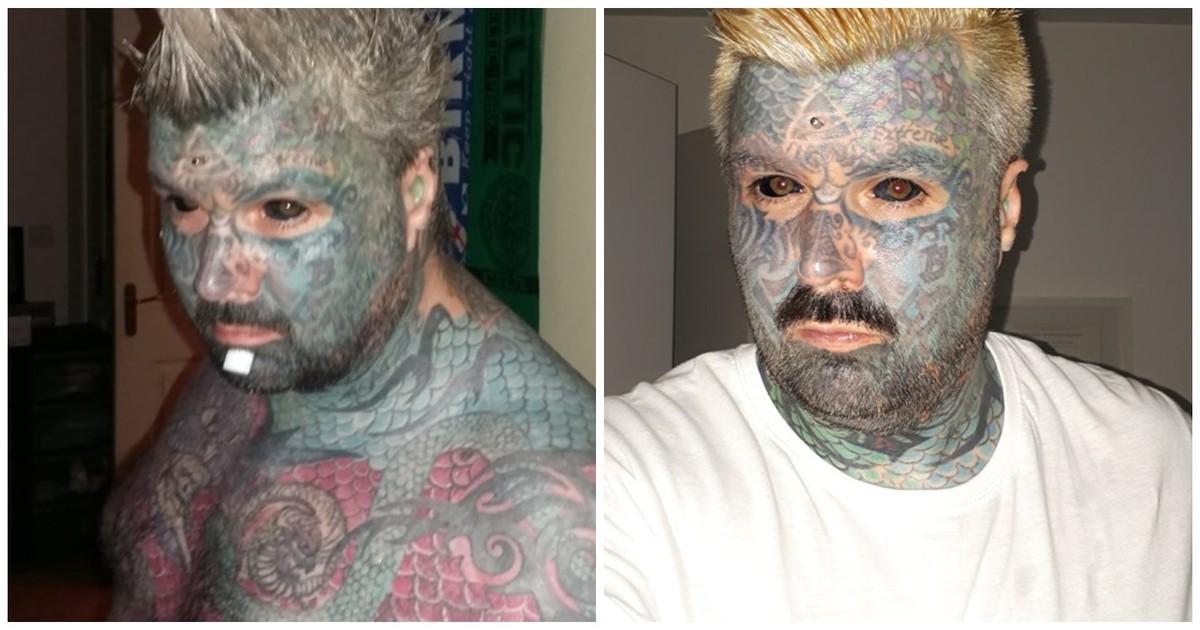 Фото Самый татуированный мужчина в мире не может найти свою любовь