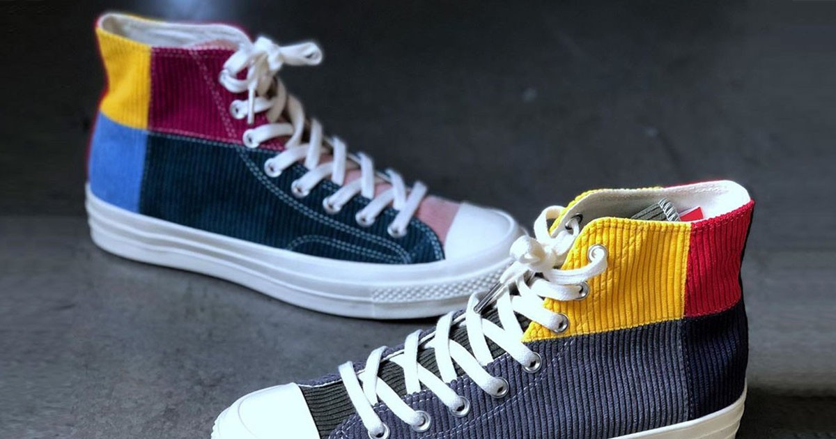 """Photo of Offspring Drapes the Converse Chuck 70 in """"Patchwork"""" Corduroy"""