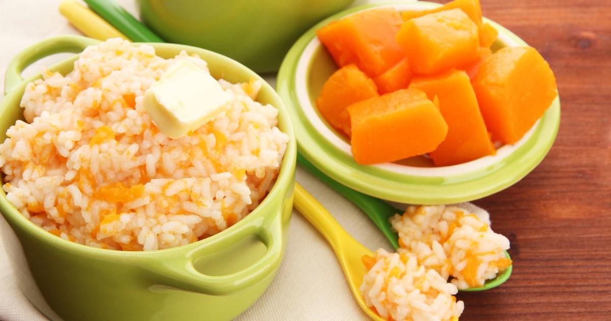 Фото Рисовая молочная каша с тыквой