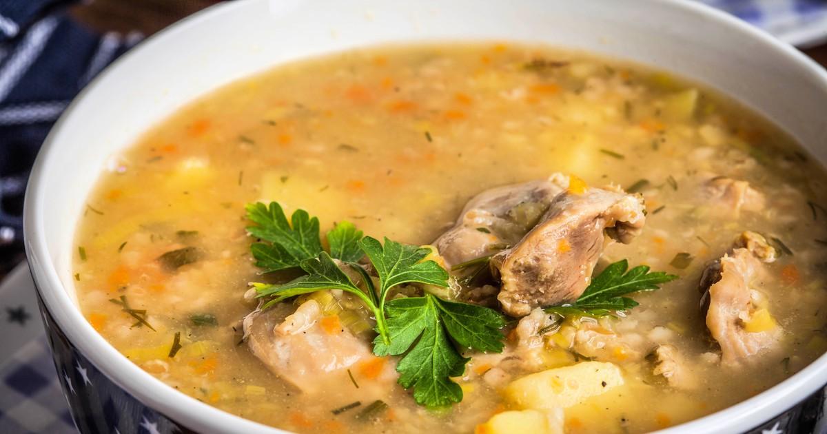 Фото Суп с куриными желудками и пшеном