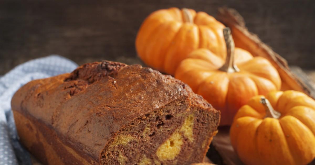Фото Тыквенно-шоколадный мраморный кекс