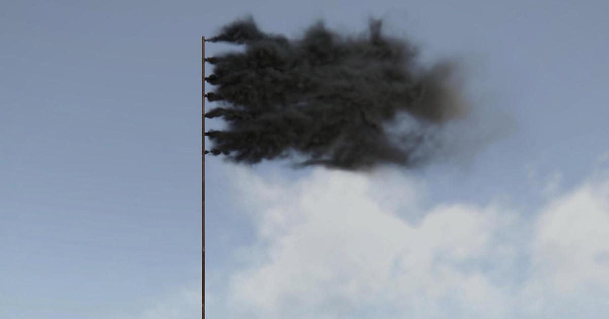 Фото Пиратский флаг из трубы
