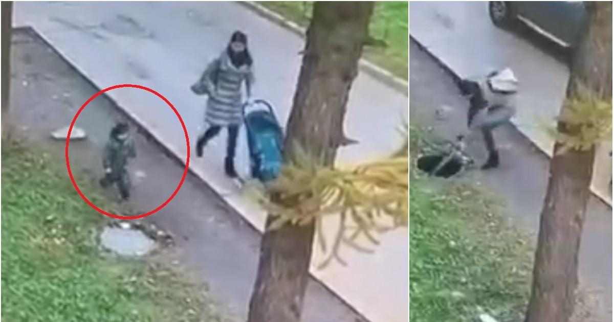 Фото Маленький ребенок провалился в люк на глазах у матери в Татарстане