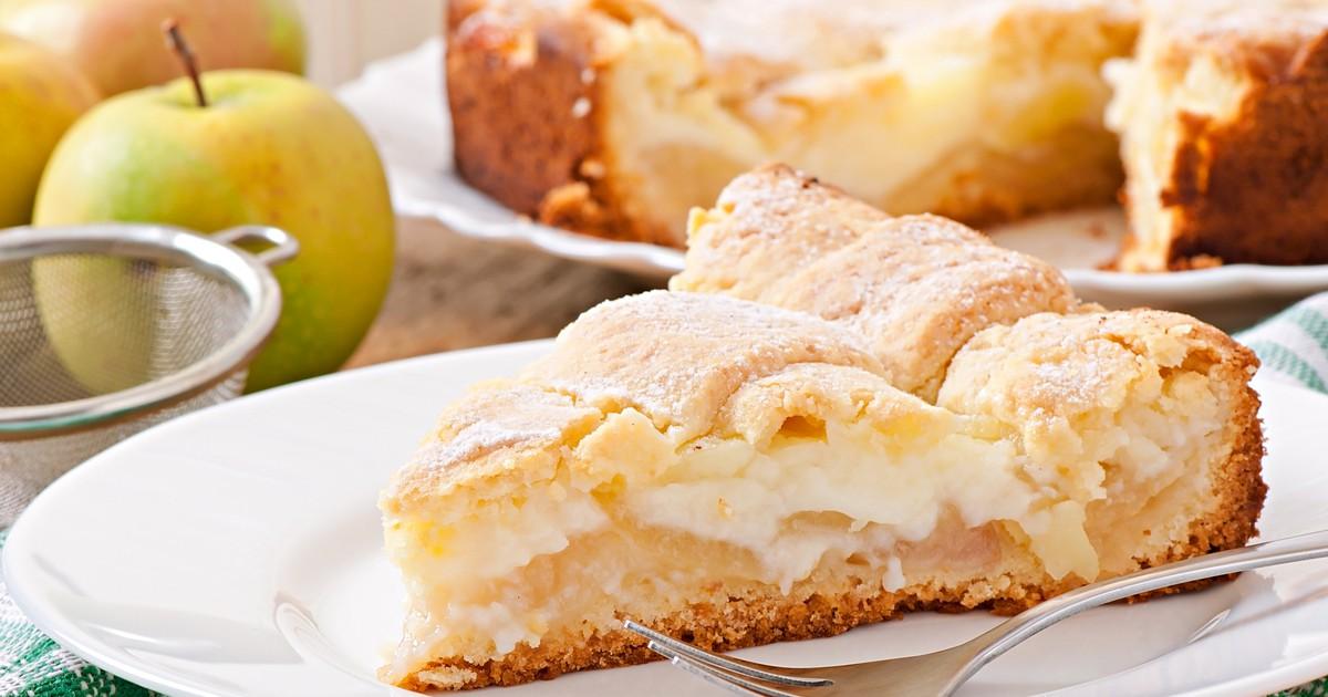 Фото Яблочный пирог с заварным кремом