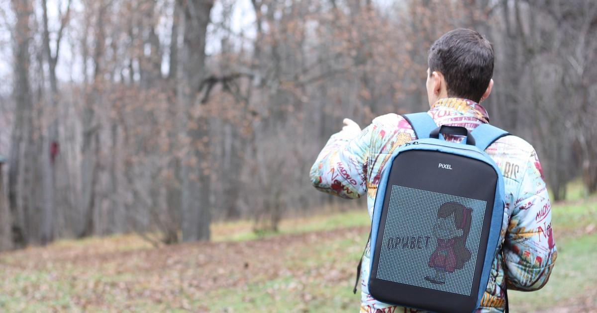 """Фото Новое слово в """"рюкзакостроении"""": встречайте модель с экраном Pixel — мой LED-опыт и впечатления"""