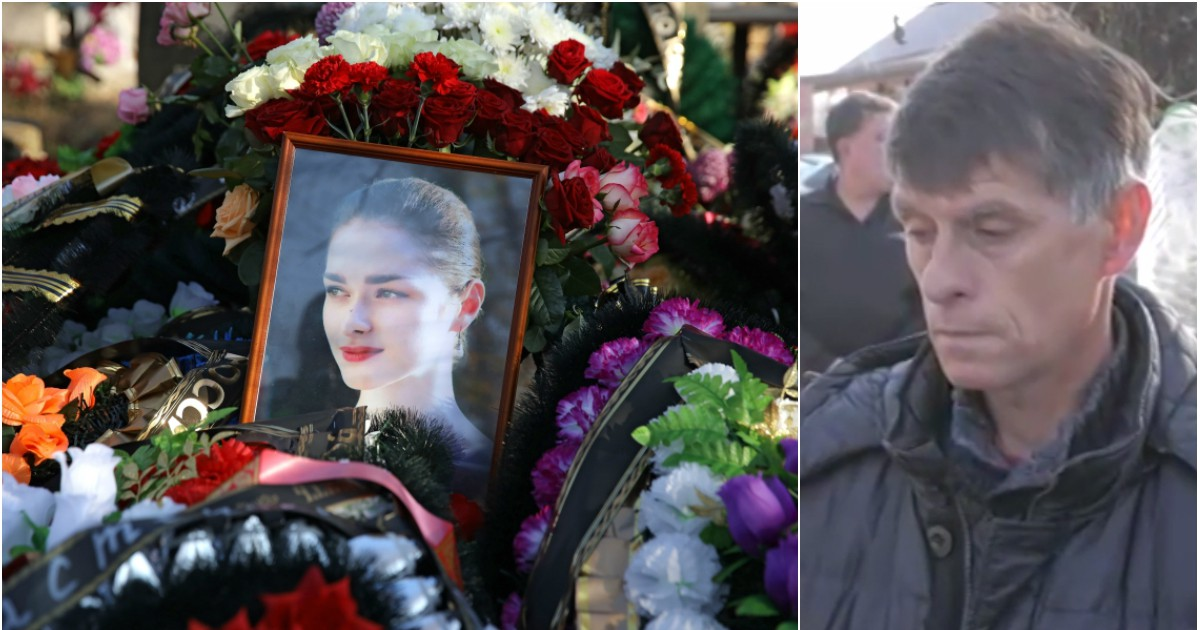"""Фото """"Она его любила..."""" Отец Ещенко на похоронах рассказал о жизни с Соколовым"""