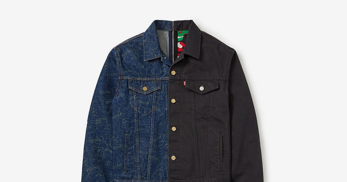 Photo of BAPE and Levi's Split Trucker Jackets Can Be Mixed & Matched