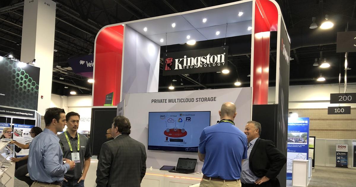 Фото [Supercomputing 2019]. Мультиоблачное хранилище как сфера применения новых накопителей Kingston DC1000M